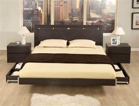 Wooden bed designs with storage home interior design