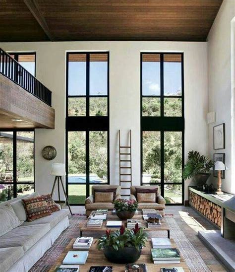 High Ceilings Living Room Ideas Home Design And Decor House High Ceiling Designs High Ceiling Designs Living Room With Sofa