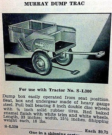 Murray Pedal Car Dump Trailer by Pedal Car Toys Murray Dump Trac Trailer For Use With The