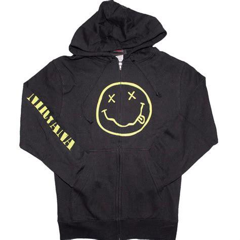 hoodie zipper nirvana jasun clothing nirvana smile discharge zip hoodie sweatshirt