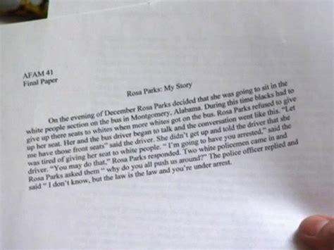 Rosa Parks Essay by Unc Athlete Rosa Parks Essay