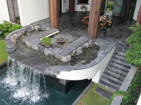 waterfall room florida pool waterfall and outdoor living room asian patio miami by waterfalls fountains