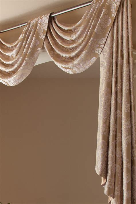 swag curtain valance gold ivy swag valance drapes