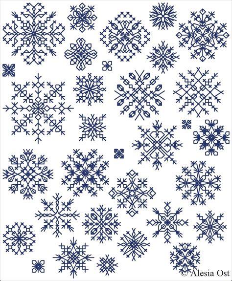 snowflake pattern cross stitch x stitch magic inimitable snowflakes