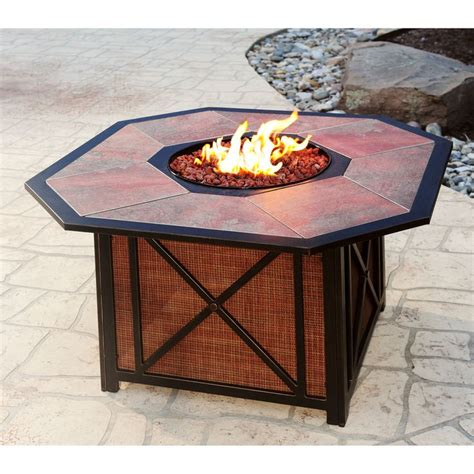 Gas Pit Deals Harmon Outdoor Tile Top Gas Pit