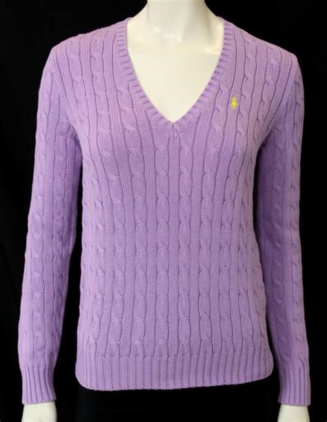 ralph sport cable knit sweater ralph sport lavender cable knit v neck sweater size