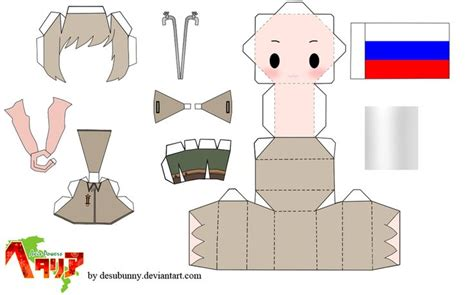 Papercraft Doll - hetalia russia papercraft by tsunyandere on deviantart