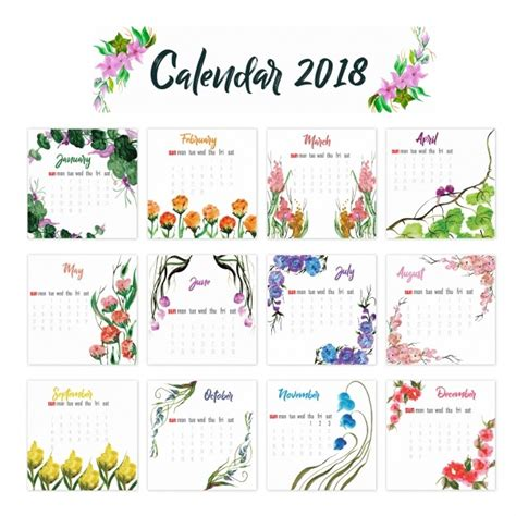 printable calendar 2018 design 12 month calendar template 2018 latest calendar