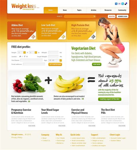 weight loss questionnaire template weight loss website template 30747
