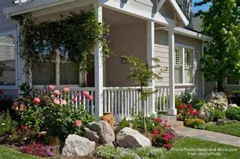 landscaping with rocks around your porch front porches