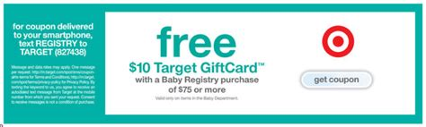 Target Registry Gift Card - expired free 10 target gift card with baby registry simple coupon deals