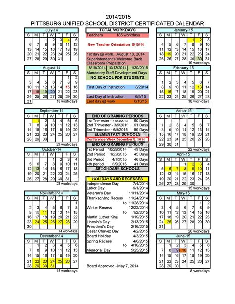 academic calendar templates yearly school calendar template yearly