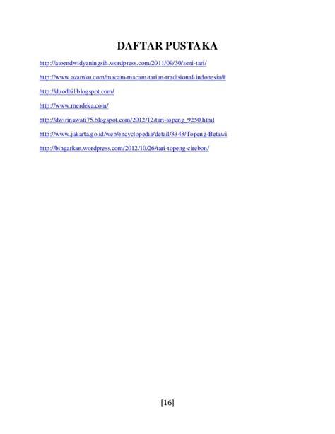 membuat makalah seni tari contoh daftar pustaka dengan web contoh 84