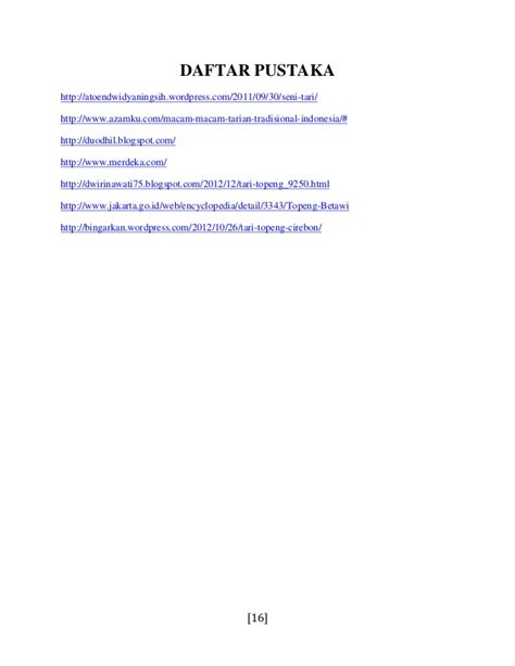 membuat proposal seni tari contoh daftar pustaka dengan web contoh 84