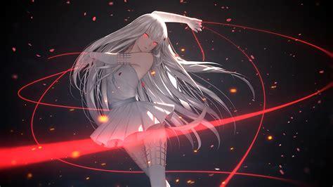 anime girl white hair wallpaper pixiv fantasia t full hd wallpaper and background image