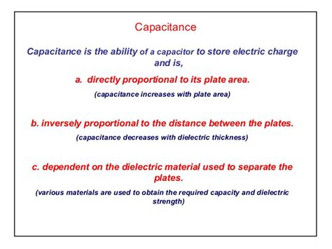 the charge on a capacitor is proportional to elect principles capacitance
