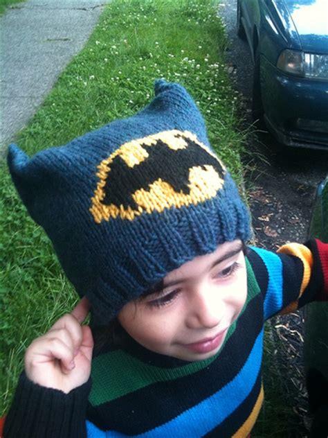 knitted batman hat batman knit hat patterns a knitting