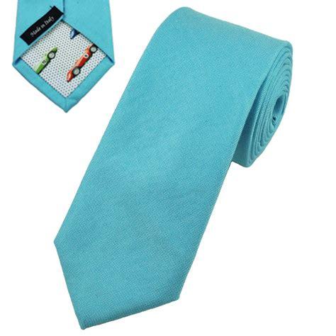 profuomo aqua blue cotton designer tie with racing