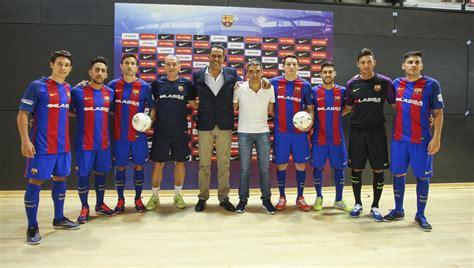 equipo futbol sala barcelona el bar 231 a lassa 2016 2017 se presenta a los medios