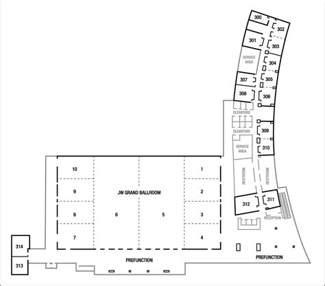 Indianapolis Convention Center Floor Plan by Indianapolis Hotel Amp Meeting Space Jw Marriott Indianapolis