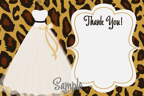 Leopard Print Wedding Invitations by Leopard Print Bridal Shower Invitations Wedding