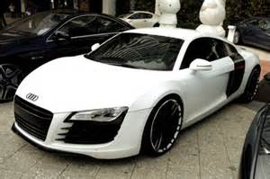 white black audi custom r8 cars wish list