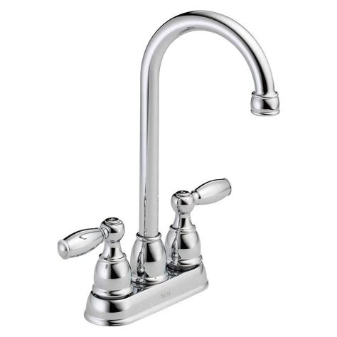delta 2 handle kitchen faucet delta foundations 2 handle bar faucet in chrome b28911lf