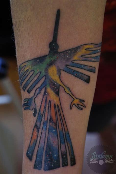 edosintoma lineas de nazcagalaxia nazca lines tattoo