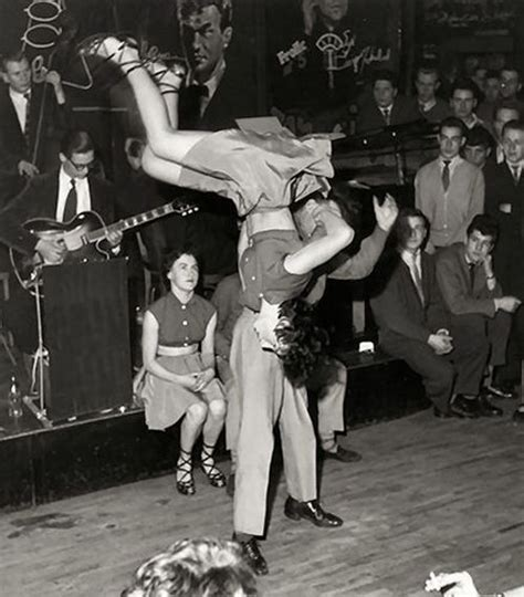 swing dance routine 1950 s rock n roll in berlin dance hall 1955 aerial