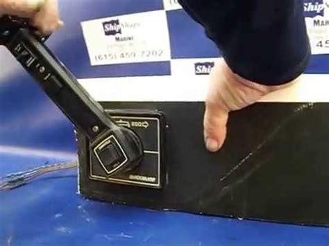 boat shifter sold mercruiser quicksilver flush mount control box