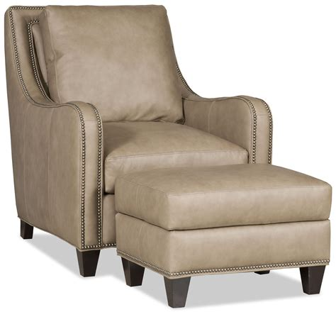 Bradington Young Greco Transitional Chair And Ottoman With Bradington Ottoman
