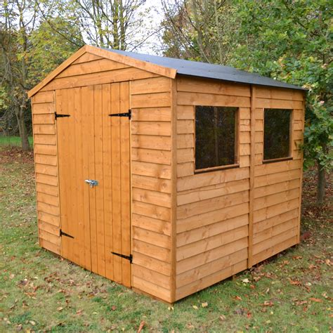 B7q Sheds by 7x7 Blooma Apex Overlap Wooden Shed Departments Diy At B Q