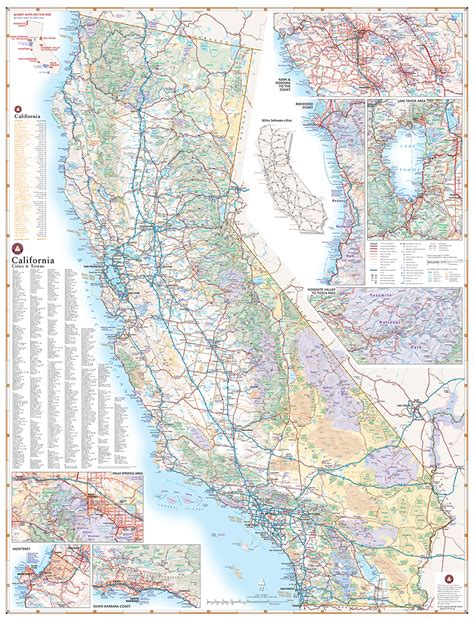 california state road map california road map benchmark maps