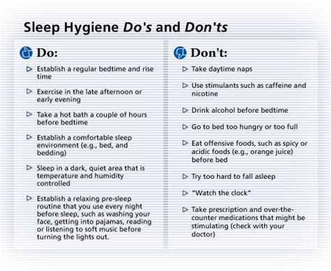 Sleep Hygiene Worksheet by Caps Stress Management Biofeedback Services 07 01 2011