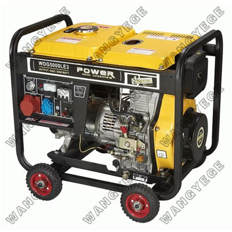 diesel generator with 5 5kw maximum output suitable for