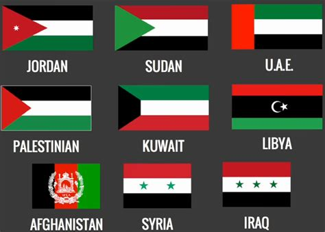 flags of the world middle east what countries flags do you think is the prettiest