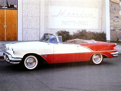 1956 oldsmobile 88 convertible 1956 oldsmobile super 88 convertible red white fsv cars