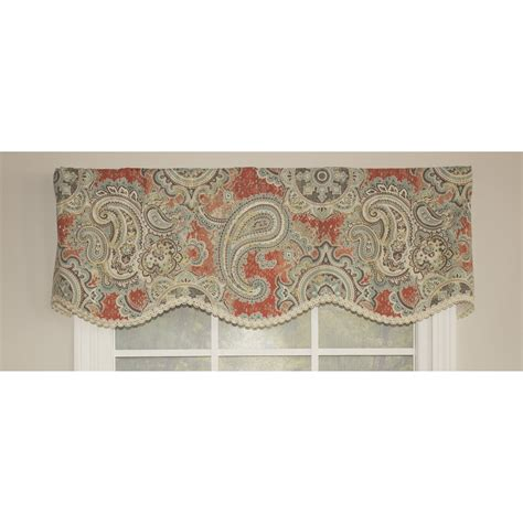 paisley valance curtains rlf home paisley party 50 quot curtain valance wayfair