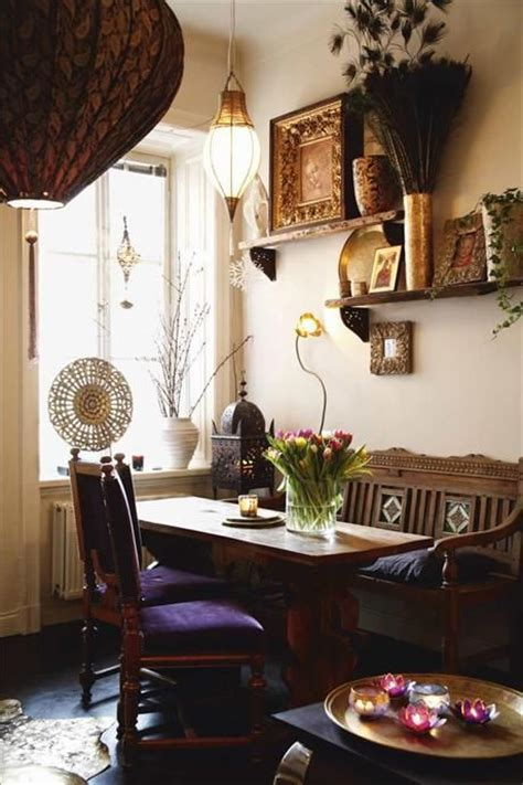 bohemian dining home dining room
