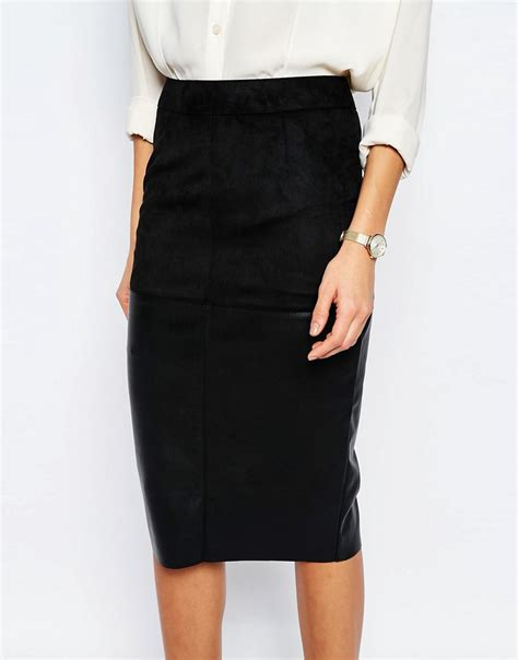 river island river island faux leather pencil skirt at asos