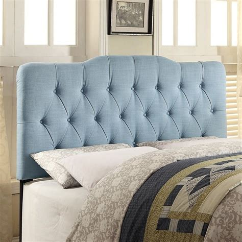 Blue Upholstered Headboard Pri Fabric Upholstered Soft Shape Headboard In Light Blue Ds 2534 2x0 408