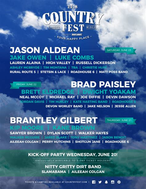 country fan fest 2017 lineup 2018 country music festival in wisconsin