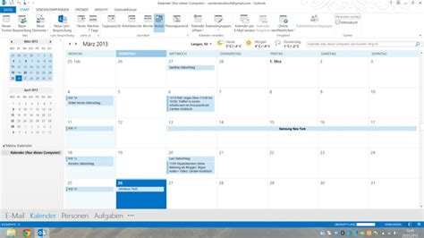 Outlook Calendar Microsoft Outlook Mit Dem Kalender Synchronisieren