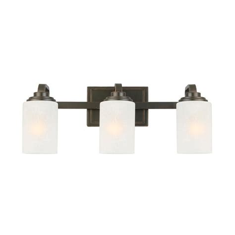 Hton Bay Bathroom Light Fixtures Hton Bay 3 Light Rubbed Bronze Vanity Light Bathroom Lighting Fixture Bathroom Lighting