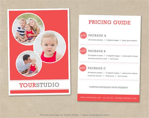 free photography pricing guide template photography pricing template pricing list pricing guide