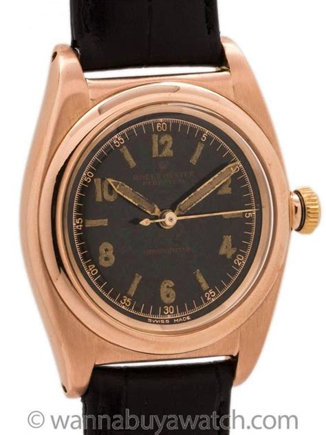 Tetonis Ts017 Black Rosegold Original rolex bubbleback 14k gold original black circa 1946 for sale at 1stdibs