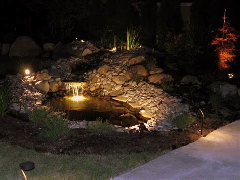 Pond Lighting by Vancouver Landscape Lighting Low Voltage Outdoor Lights