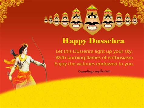 dussehra wishes messages and sms wordings and messages