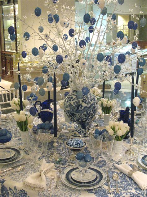 blue flower tree family symbolize happy home decor wall 25 easter holiday ideas for table decoration