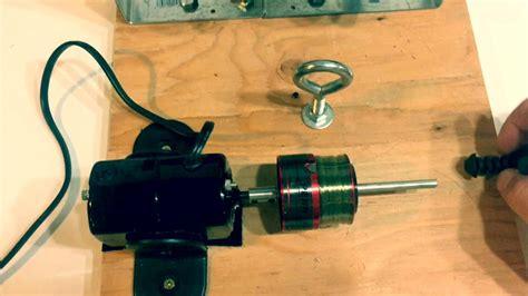 my diy electric line winder bloodydecks fishing line winder made with sewing machine motor doovi